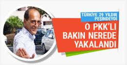 Türkiye'nin 29 yıldır peşinde olduğu PKK'lı bakın nerede yakalandı