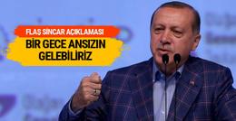 Cumhurbaşkanı Erdoğan'dan flaş Sincar açıklaması