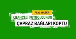 Fenerbahçeli futbolcunun çapraz bağı koptu!