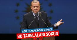 Cumhurbaşkanı Erdoğan uyardı: Bu tabelaları sökün