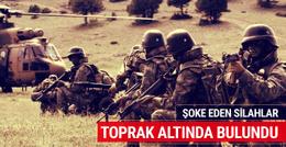PKK'nın cephaneliğinde şoke eden silahlar