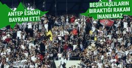 Gaziantep esnafı Beşiktaş sayesinde bayram etti