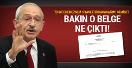 Kılıçdaroğlu fena çuvalladı o belge ortaya çıktı