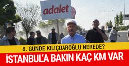 Kemal Kılıçdaroğlu 8. günde nerede? Yürüyüşte kimler var?