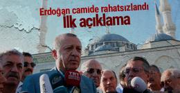 Cumhurbaşkanı Erdoğan camide rahatsızlandı