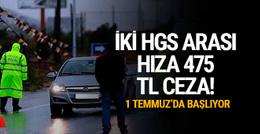 İki HGS arası hıza 475 TL ceza!