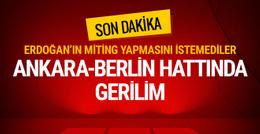 Erdoğan'ın ziyaretiyle ilgili Almanya'dan 'uygunsuz' açıklama