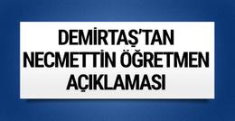 Selahattin Demirtaş'tan Necmettin öğretmen açıklaması