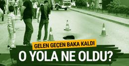 İstanbul Fatih'te yol çöktü cadde trafiğe kapatıldı