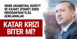 Katar krizi bitti mi? Erdoğan'dan önemli açıklamalar
