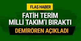 Fatih Terim istifa etti! Milli Takım'da şok gelişme