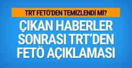 TRT'den FETÖ iddianamesi için açıklama
