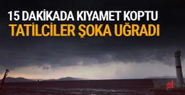 Marmara ve Avşa'daki tatilciler neye uğradığını şaşırdı
