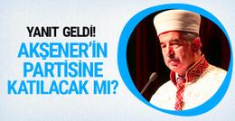 Bardakoğlu'ndan yanıt geldi! Akşener'in partisinde yer alacak mı?