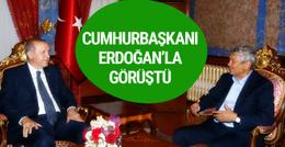 Cumhurbaşkanı Erdoğan Demirören ve Lucescu'yu ağırladı