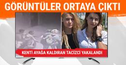 İzmir'de kadınlara cinsel tacizin görüntüleri kamerada