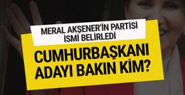 İşte Meral Akşener'in partisinin 2019 cumhurbaşkanı adayı