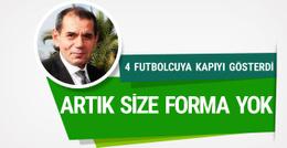 Dursun Özbek 4 futbolcunun gitmesini istedi