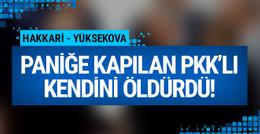 Paniğe kapılan PKK'lı terörist kendini öldürdü!