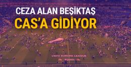 Ceza alan Beşiktaş CAS'a gidiyor