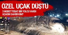 Atatürk Havalimanı'nda uçak düştü!