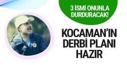 Aykut Kocaman'ın derbi taktiği belli oldu