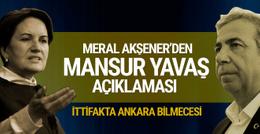 Meral Akşener'den Mansur Yavaş açıklaması