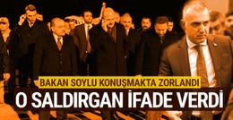 Bakan Soylu açıkladı: O saldırgan ilk ifadesini verdi