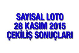 Sayısal Loto sonuçları 28 Kasım çekilişi MPİ bu hafta...