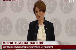 Meral Akşener MHP Genel Başkan adaylığını açıkladı