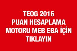 TEOG puan hesaplama MEB 2016 motoru EBA