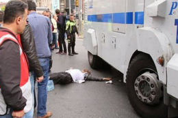 Beyoğlu'nda TOMA vatandaşı ezdi korkunç olay!