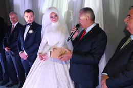 Binali Yıldırım yeğeninin nikah törenine katıldı