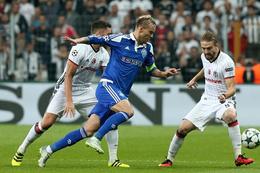 Beşiktaş-Dinamo Kiev maçında şok görüntüler