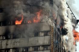 İran'da 17 katlı bina çöktü! Çok sayıda ölü var