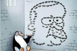 Penguen hapse girdi yine Erdoğan'ı çizdi!