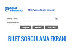 19 Ocak 2017 çekilişi Milli Piyango bilet sorgulama
