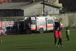 Amatör lig maçında meydan muharebesi görüntüleri!