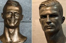 Cristiano Ronaldo'nun büstü bu kez başarılı oldu