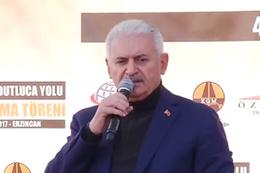 Başbakan Yıldırım Erzincan'da meydan okudu