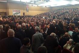 Muhalif MHP'liler toplandı! Salonda dikkat çeken detay