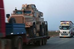 ABD'nin teröristlere zırhlı araç sevkiyatı böyle görüntülendi