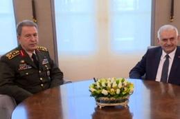 Başbakan Binali Yıldırım, Akar ile görüştü