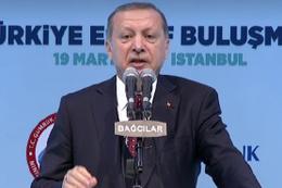 Erdoğan uyardı! Ülkemizin başına kötü bir şey gelirse...
