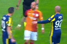Galatasaray Fenerbahçe derbisinde gergin anlar