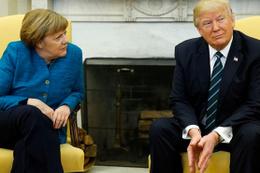 Trump, Merkel'le neden tokalaşmamış işte cevabı...