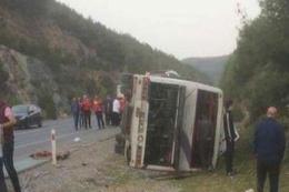 Antalyaspor taraftar otobüsü kaza yaptı!