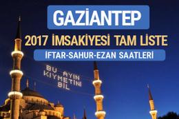 2017 İmsakiye Gaziantep iftar saatleri sahur ezan vakti