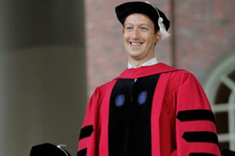 Mark Zuckerbeg bıraktığı okul Harvard'a geri döndü