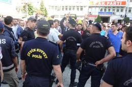 Rize'deki Adalet Yürüyüşü'nde ortalık karıştı
